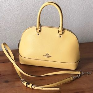 Coach Dome Satchel with Crossbody Strap💛🧡💛🧡